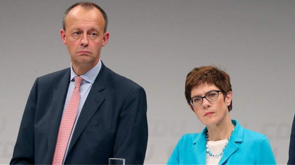 Γερμανία: Νίκη της Η Άν.Κραμοπ- Καρενμπάουερ στον α' γύρο της εκλογής στο CDU- Στον β' γύρο με τον Φρ. Μερτς